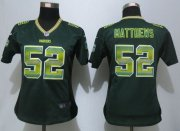 Wholesale Cheap Nike Packers #52 Clay Matthews Green Team Color Women's Stitched NFL Elite Strobe Jersey