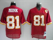 Wholesale Cheap Mitchell and Ness Redskins #81 Art Monk Stitched Red 50TH Anniversary NFL Jersey