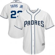 Wholesale Cheap Padres #23 Fernando Tatis Jr. White Cool Base Stitched Youth MLB Jersey
