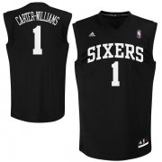 Wholesale Cheap Philadelphia 76ers #1 Michael Carter -Williams Black Fashion Replica Jersey