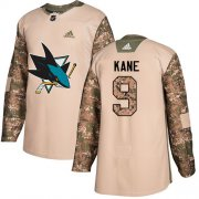 Wholesale Cheap Adidas Sharks #9 Evander Kane Camo Authentic 2017 Veterans Day Stitched Youth NHL Jersey