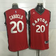 Wholesale Cheap Men's Toronto Raptors #20 Bruno Caboclo Red New NBA Rev 30 Swingman Jersey