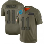 Wholesale Cheap Nike Panthers #11 Robby Anderson Camo Youth Stitched NFL Limited 2019 Salute to Service Jersey