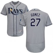 Wholesale Cheap Rays #27 Carlos Gomez Grey Flexbase Authentic Collection Stitched MLB Jersey