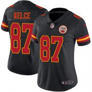 Wholesale Cheap Nike Chiefs #87 Travis Kelce Black Women's Stitched NFL Limited Rush Jersey