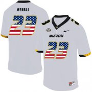 Wholesale Cheap Missouri Tigers 23 Roger Wehrli White USA Flag Nike College Football Jersey