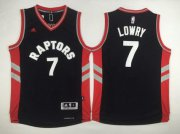 Wholesale Cheap Men's Toronto Raptors #7 Kyle Lowry Revolution 30 Swingman 2014 New Black Jersey