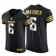 Wholesale Cheap Cleveland Browns #6 Baker Mayfield Men's Nike Black Edition Vapor Untouchable Elite NFL Jersey