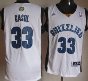 Wholesale Cheap Memphis Grizzlies #33 Marc Gasol Revolution 30 Swingman White Jersey