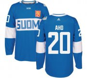 Wholesale Cheap Team Finland #20 Sebastian Aho Blue 2016 World Cup Stitched NHL Jersey
