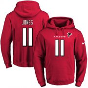 Wholesale Cheap Nike Falcons #11 Julio Jones Red Name & Number Pullover NFL Hoodie