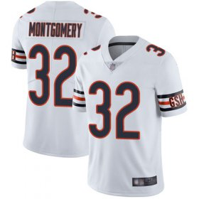 Wholesale Cheap Nike Bears #32 David Montgomery White Men\'s Stitched NFL Vapor Untouchable Limited Jersey