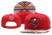 Wholesale Cheap Buccaneers Fresh Logo Red 2019 Draft Adjustable Hat YD