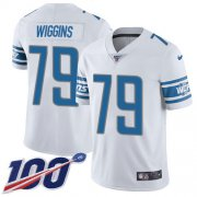 Wholesale Cheap Nike Lions #79 Kenny Wiggins White Youth Stitched NFL 100th Season Vapor Untouchable Limited Jersey
