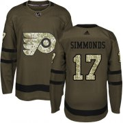 Wholesale Cheap Adidas Flyers #17 Wayne Simmonds Green Salute to Service Stitched Youth NHL Jersey