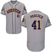 Wholesale Cheap Astros #41 Brad Peacock Grey Flexbase Authentic Collection 2019 World Series Bound Stitched MLB Jersey
