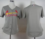 Wholesale Cheap Cardinals Blank Grey Road Women's Stitched MLB Jersey