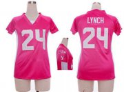 Wholesale Cheap Nike Seahawks #24 Marshawn Lynch Pink Draft Him Name & Number Top Women's Stitched NFL Elite Jersey
