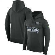 Wholesale Cheap NFL Men's Seattle Seahawks Nike Anthracite Crucial Catch Performance Pullover Hoodie