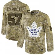 Wholesale Cheap Adidas Maple Leafs #57 Travis Dermott Camo Authentic Stitched NHL Jersey
