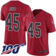 Wholesale Cheap Nike Falcons #45 Deion Jones Red Men's Stitched NFL Limited Rush 100th Season Jersey