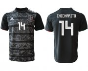 Wholesale Cheap Mexico #14 Chicharito Black Soccer Country Jersey