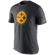 Wholesale Cheap Men's Pittsburgh Steelers Nike Charcoal Team Travel Performance T-Shirt