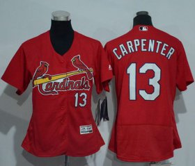Wholesale Cheap Cardinals #13 Matt Carpenter Red Flexbase Authentic Women\'s Stitched MLB Jersey