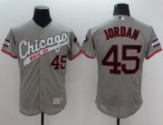Wholesale White Sox #45 Michael Jordan Grey Flexbase Authentic Collection Cooperstown Stitched Baseball Jersey