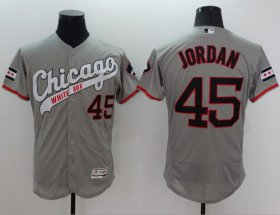 Wholesale Cheap White Sox #45 Michael Jordan Grey Flexbase Authentic Collection Cooperstown Stitched MLB Jersey