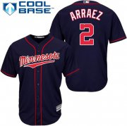 Wholesale Cheap Twins #2 Luis Arraez Navy Blue Cool Base Stitched Youth MLB Jersey