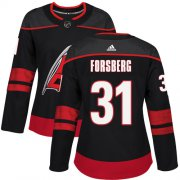 Wholesale Cheap Adidas Hurricanes #31 Anton Forsberg Black Alternate Authentic Women's Stitched NHL Jersey