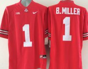 Wholesale Cheap Men's Ohio State Buckeyes #5 Baxton Miller Red College Football Nike Lmited Jersey