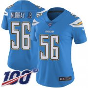 Wholesale Cheap Nike Chargers #56 Kenneth Murray Jr Electric Blue Alternate Women's Stitched NFL 100th Season Vapor Untouchable Limited Jersey