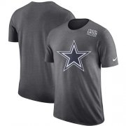 Wholesale Cheap NFL Men's Dallas Cowboys Nike Anthracite Crucial Catch Tri-Blend Performance T-Shirt