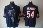 Wholesale Cheap Nike Bears #54 Brian Urlacher Navy Blue Team Color Men's Stitched NFL Helmet Tri-Blend Limited Jersey