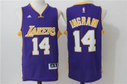 Wholesale Cheap Men's Los Angeles Lakers #14 Brandon Ingram Purple Revolution 30 Swingman Basketball Jersey