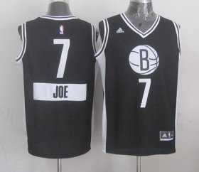 Wholesale Cheap Brooklyn Nets #7 Joe Johnson Revolution 30 Swingman 2014 Christmas Day Black Jersey