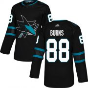 Wholesale Cheap Adidas Sharks #88 Brent Burns Black Alternate Authentic Stitched Youth NHL Jersey