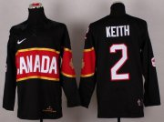 Wholesale Cheap Olympic 2014 CA. #2 Duncan Keith Black Stitched NHL Jersey