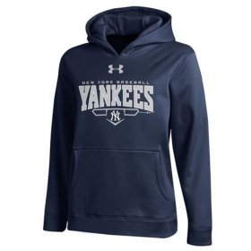 Wholesale Cheap New York Yankees Under Armour Fleece Navy MLB Hoodie