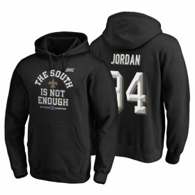 Wholesale Cheap New Orleans Saints #94 Cameron Jordan 2019 NFC South Division Champions Black Cover Two Hoodie