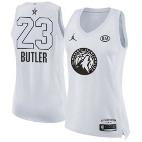 Wholesale Cheap Nike Minnesota Timberwolves #23 Jimmy Butler White Women\'s NBA Jordan Swingman 2018 All-Star Game Jersey