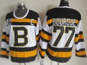 Wholesale Cheap Bruins #77 Ray Bourque White CCM Throwback 75TH Stitched NHL Jersey