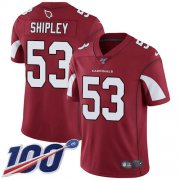 Wholesale Cheap Nike Cardinals #53 A.Q. Shipley Red Team Color Men's Stitched NFL 100th Season Vapor Limited Jersey