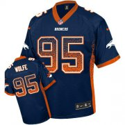 Wholesale Cheap Nike Broncos #95 Derek Wolfe Navy Blue Alternate Men's Stitched NFL Elite Drift Fashion Jersey