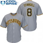 Wholesale Cheap Pirates #8 Willie Stargell Grey Cool Base Stitched Youth MLB Jersey
