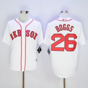 Wholesale Cheap Red Sox #26 Wade Boggs White New Cool Base Stitched MLB Jersey