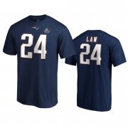 Wholesale Cheap New England Patriots #24 Ty Law Navy 2019 Hall Of Fame NFL T-Shirt