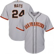Wholesale Cheap Giants #24 Willie Mays Grey Road Cool Base Stitched Youth MLB Jersey